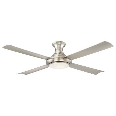 Waywood 56 in. LED Indoor Brushed Nickel Ceiling Fan